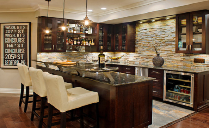 Milwaukee, WI basement remodeling bar ideas photos
