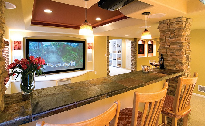 basement home theater system idea
