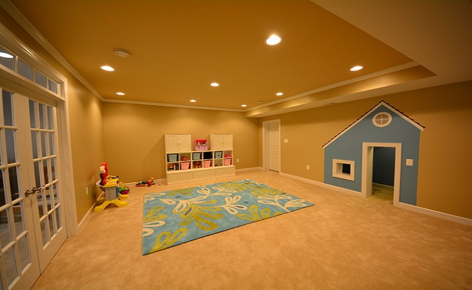 Kids basement rec room