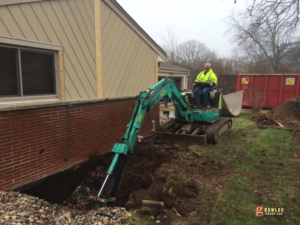 excavating egress window installation