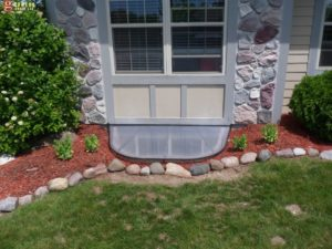 Completed egress window installation